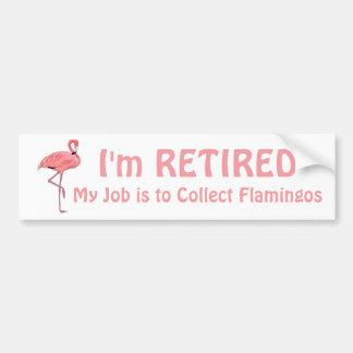 Funny Lawn Flamingo Retirement Quote Bumper Sticker