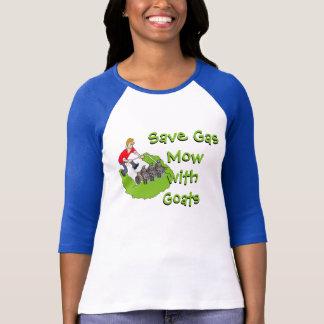 Funny Lawn Mower - Goats T-Shirt
