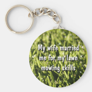 Funny Lawn Mowing Key Chains