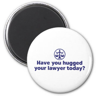 Funny Lawyer 6 Cm Round Magnet