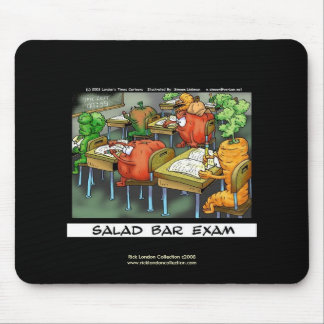"Funny Lawyer Cartoon Mouse Pad  ""Salad Bar Exam"