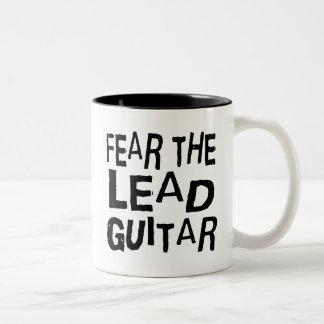 Funny Lead Guitar Two-Tone Coffee Mug