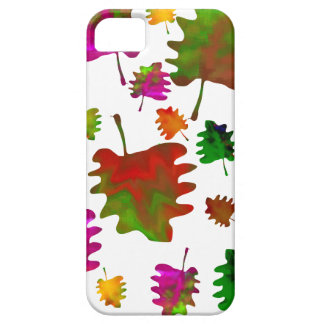 Funny leaves watercolor barely there iPhone 5 case