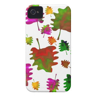 Funny leaves watercolor Case-Mate iPhone 4 case