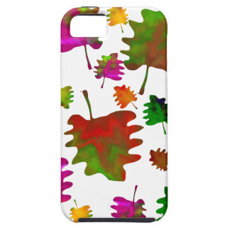 Funny leaves watercolor iPhone 5 case