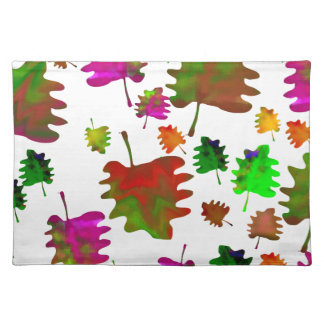 Funny leaves watercolor placemat