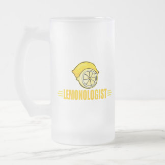 Funny Lemon Frosted Glass Beer Mug