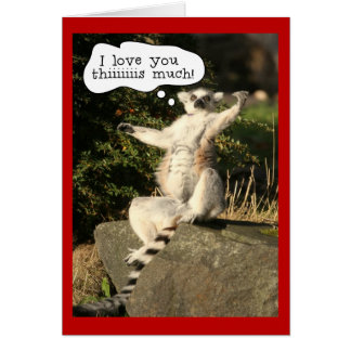 Funny Lemur Love You This Much Valentines Day Card