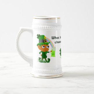 Funny Leprechaun Beer Mug