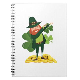 Funny Leprechaun Dab Dabbing St Patricks Day Notebook
