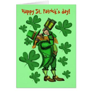Funny leprechaun happy St. Patrick's day card