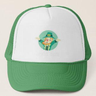 Funny Leprechaun Kiss Me I'm Irish Saint Patrick Trucker Hat
