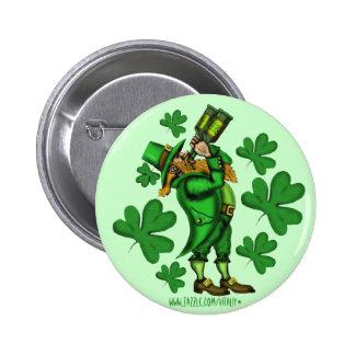 Funny leprechaun St. Patrick's day button design