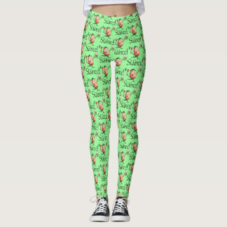 Funny Leprechaun With Beer Slainte! Leggings