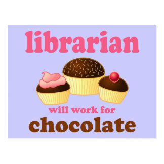 Funny Librarian Postcard