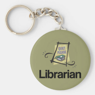 Funny Librarian Quiet Please Library Gift Key Ring