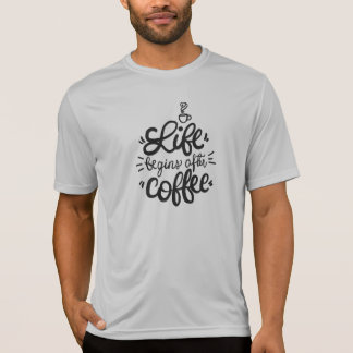 Funny Life Begins After Coffee | Canvas Shirt