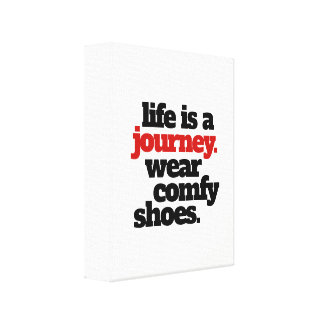 Funny Life is a Journey ... Canvas Print