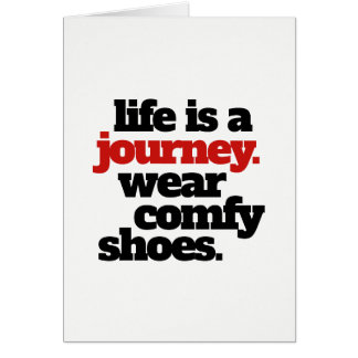 Funny Life is a Journey ... Card