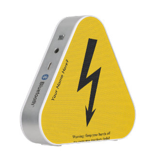 Funny Lightning Bolt Warning Sign