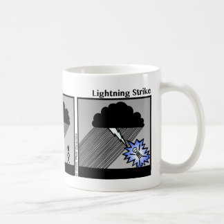 Funny Lightning Strike Stickman Mug - 007 Basic White Mug