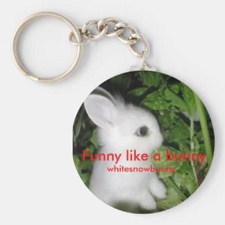 Funny like a bunny keychain
