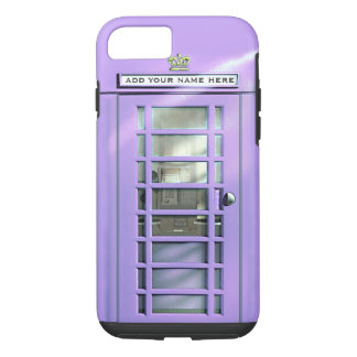 Funny Lilac British Phone Box Personalized iPhone 8/7 Case
