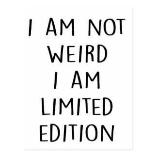 Funny Limited Edition Quote Postcard
