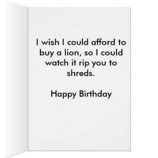 Funny Lion Birthday Card