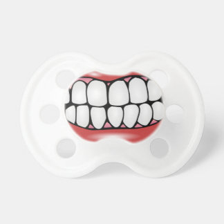 Funny Lips and Big Adult Teeth Baby Soother