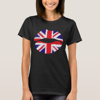 funny lips,uk lips, union jack T-Shirt
