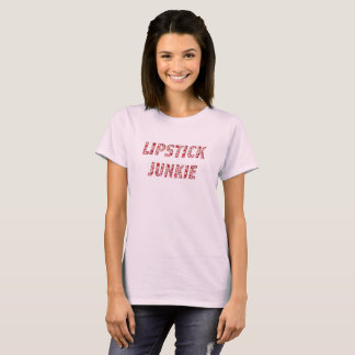 Funny Lipstick Junkie, Makeup Lovers Graphic Shirt
