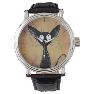 Funny Little Black Cat Watch