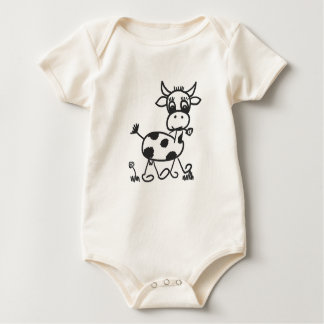 Funny Little Cow - baby Body bio cotton Baby Bodysuit