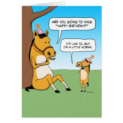 funny_little_horse_birthday_card r63b36e3cf85d4cc9b2d691dcf0797681_xvuat_8byvr_512 funny horse birthday cards on birthday cake for 85 year old man