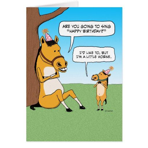 Sensational Funny Little Horse Birthday Card Zazzle Personalised Birthday Cards Epsylily Jamesorg