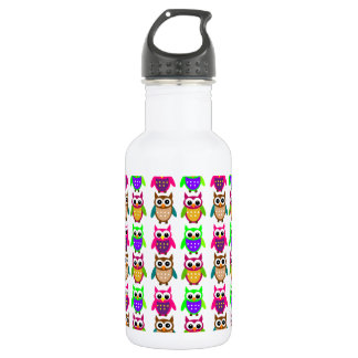 funny little owls 532 ml water bottle