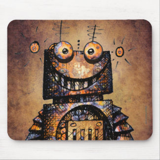 Funny Little Robot Mouse Pad