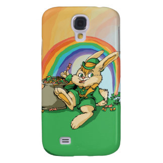 Funny Little Saint Patrick Rabbit Samsung Galaxy S4 Covers