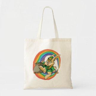 Funny Little Saint Patrick Rabbit Tote Bag