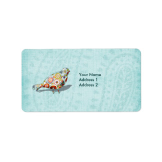 Funny Little Whimsical  Bird Personalized Label