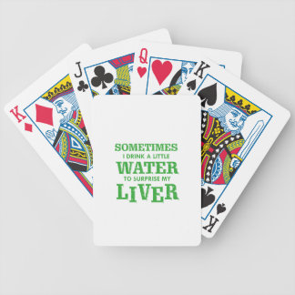 Funny Liver designs Bicycle Playing Cards