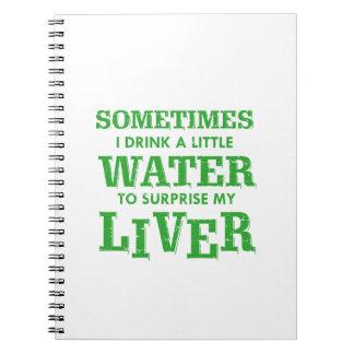 Funny Liver designs Notebook