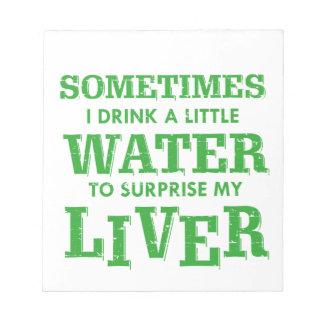 Funny Liver designs Notepad