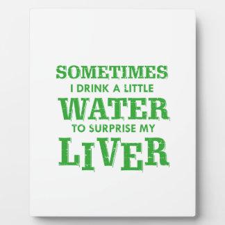 Funny Liver designs Plaque