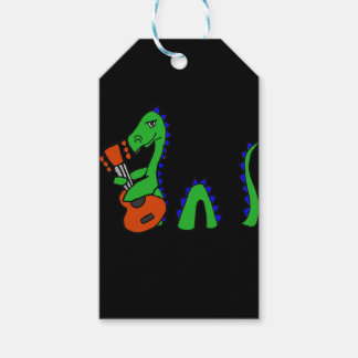 Funny Loch Ness Monster Playing Guitar Art Gift Tags