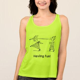 Funny Long Nose Women Activewear Singlet