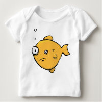 c75460ea Funny Long Sleeve Baby T-shirt Top - Weird Fish. Baby Clothes