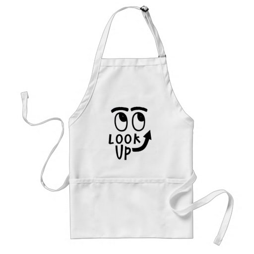 "Funny ""Look Up"" Gifts and Novelties Aprons"