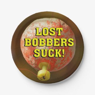 Funny LOST BOBBERS SUCK! Paper Plate